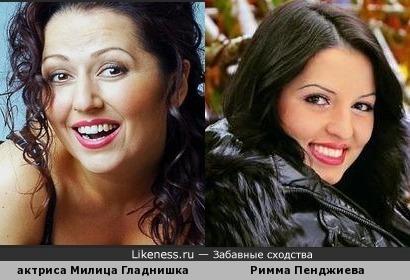 актриса, певица Милица Гладнишка (Болгария) и бывшая участница реалити-шоу ''Дом 2'' Римма Пенджиева (Украина)