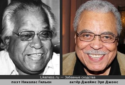 Nicolás Cristóbal Guillén (Куба) & James Earl Jones (Соединённые Штаты Америки)