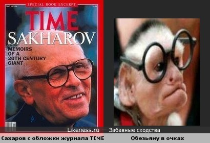 "Сахаров с обложки журнала Time похож на популярную картинку ""Обезьяна в очках"""