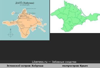 Эстонский остров Хийумаа напоминает полуостров Крым очертаниями своими