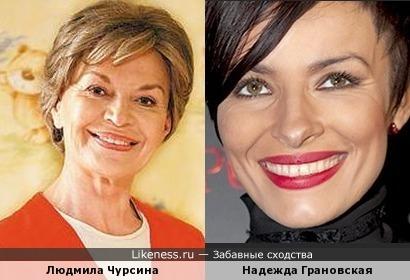Людмила Чурсина и Надежда Грановская