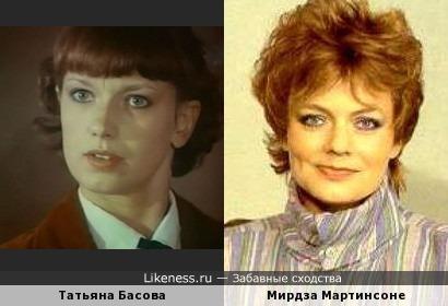 Татьяна Басова и Мирдза Мартинсоне