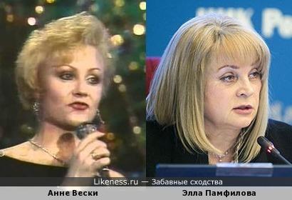 Анне Вески и Элла Памфилова