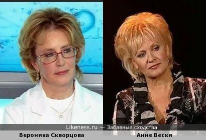 Вероника Скворцова и Анне Вески