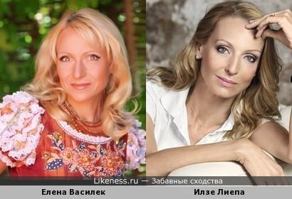Елена Василек и Илзе Лиепа