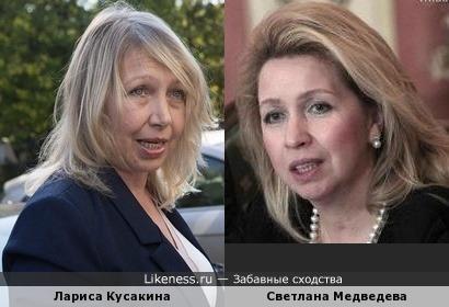 мама Натальи Водяновой и Светлана Медведева
