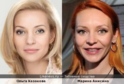 Ольга Казакова и Марина Анисина