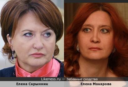 Елена Скрынник и Елена Макарова дочь Елены Образцовой
