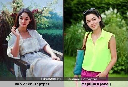 Марина Кравец и портрет девушки