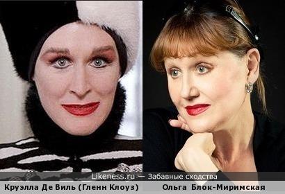 Гленн Клоуз и Ольга Блок-Миримская