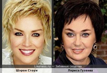 Шэрон Стоун и Лариса Гузеева