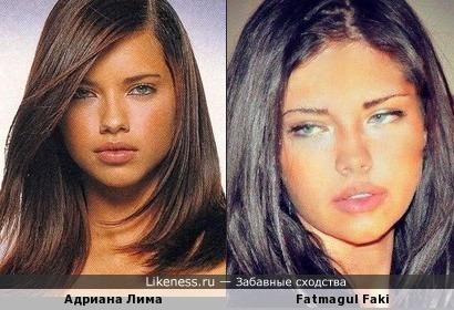 Fatmagul Faki и Адриана Лима похожи