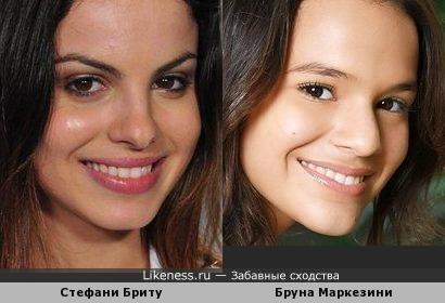Стефани Бриту и Бруна Маркезини