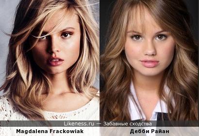Magdalena Frackowiak здесь похожа на Дебби Райан