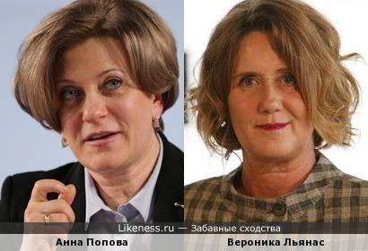 Анна Попова похожа на Вероника Льянас.