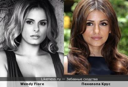 Wendy Fiore и Пенелопа Крус.