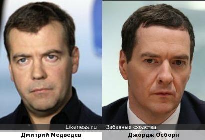 Дмитрий Медведев и Джордж Осборн