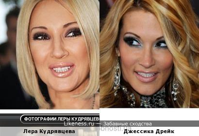 Лера Кудрявцева похожа на Джессику Дирк