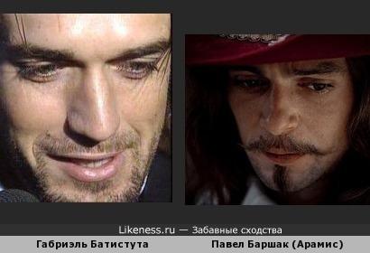 Габриэль Батистута похож на Павла Баршака