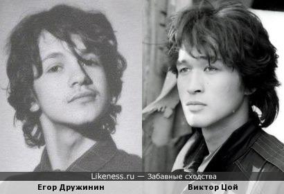 Егор Дружинин похож на Виктора Цоя