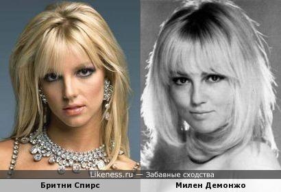 Бритни Спирс похожа на Милен Демонжо