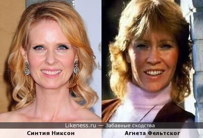 Агнета Фельтског улыбкой напомнила Синтию Никсон
