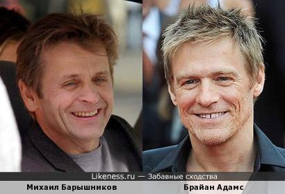 Михаил Барышников и Брайан Адамс