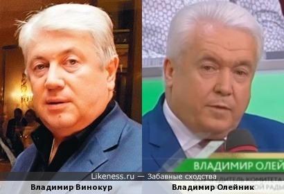 Владимир Олейник похож на Владимира Винокура