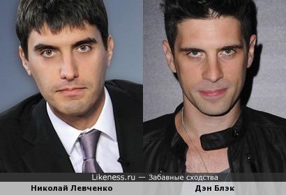 Британский певец Дэн Блэк похож на Николая Левченко