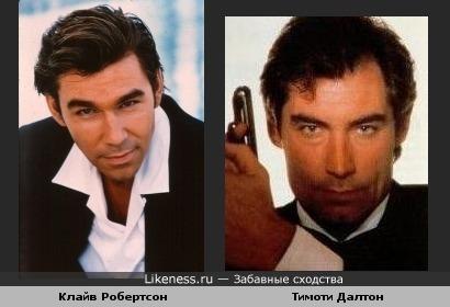 Тимоти Далтон и Клайв Робертсон