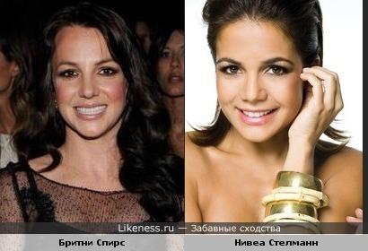 Бритни Спирс и Нивеа Стелманн (актриса из Бразилии) похожи