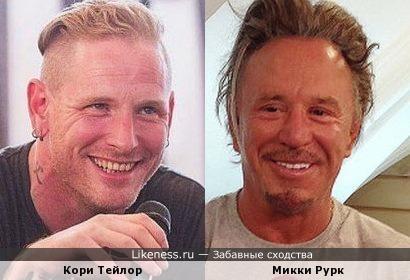 Кори Тейлор и Микки Рурк