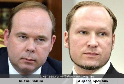 Антон Вайно и Андерс Брейвик