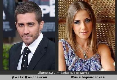 Джейк Джилленхол и Юлия Барановская