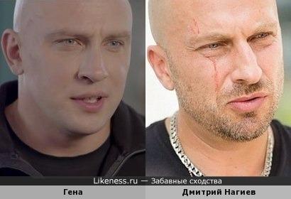 Гена из сериала ''Киев днем и ночью'' похож на Дмитрий Нагиева в образе физрука