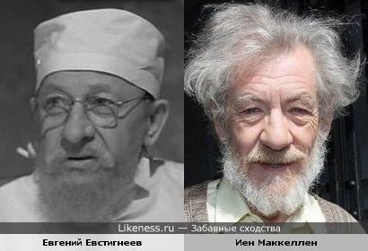Евгений Евстигнеев и Иен Маккеллен