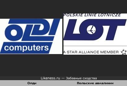 Логотипы Олди и Польские авиалинии