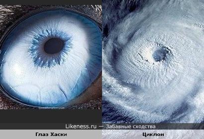 Глаз Хаски и циклон