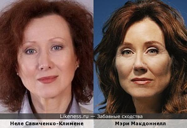 Неле Савиченко-Климене и Мэри Макдоннелл