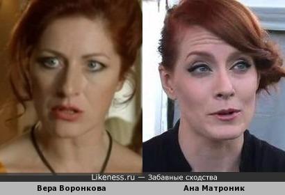 Вера Воронкова и Ана Матроник