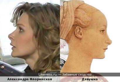 Александра Флоринская и девушка работы Паолы Мираи (из цикла East meets West)