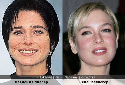 Летисия Спиллер чем-то похожа на Рене Зеллвегер