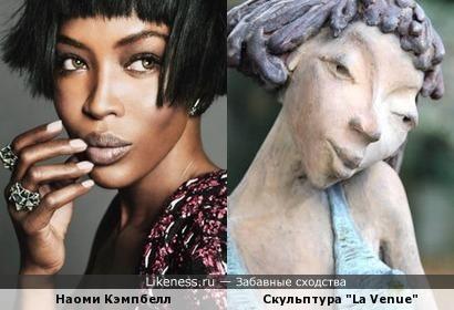 Скульптура Дирка де Кейзера напомнила топ-модель