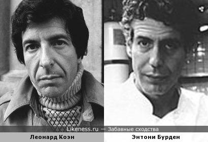 Леонард Коэн и Энтони Бурден