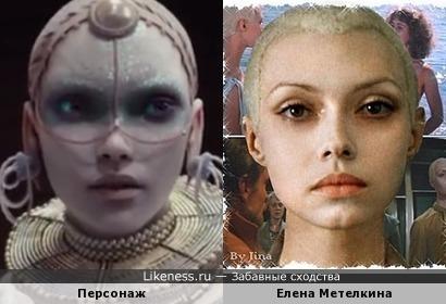 Инопланетный персонаж фильма, премьера которого еще не состоялась, и неземная наша Елена