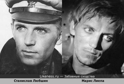 Станислав Любшин и Марис Лиепа