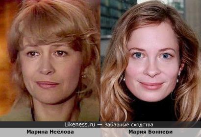 Марина Неёлова и Мария Бонневи