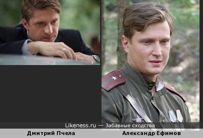 Дмитрий Пчела похож на Александра Ефимова