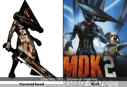Герои игр Silent hill и MDK похожи!
