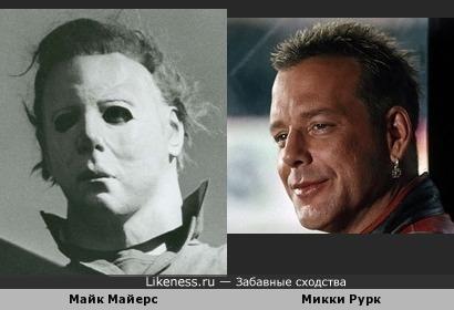 Майк Майерс похож на Микки Рурка
